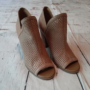 Lucky Brand peep toe bootie heels